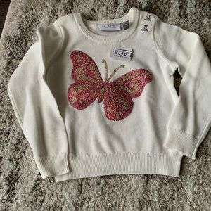 NWT toddler butterfly sweater girl